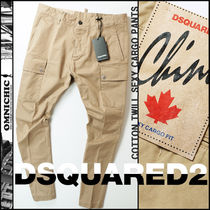 D SQUARED2 Tapered Pants Camouflage Unisex Street Style Plain Cotton