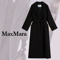 MaxMara LILIA Casual Style Wool Plain Long Party Style Office Style