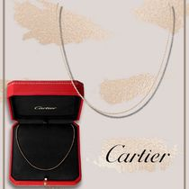 Cartier Unisex Street Style Chain 18K Gold Logo Necklaces & Chokers