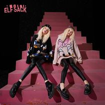 ELF SACK Casual Style Street Style Collaboration Long Sleeves Long