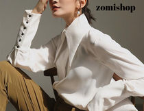 Long Sleeves Plain Cotton Medium Party Style With Jewels