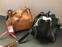 VALENTINO Casual Style Calfskin Studded Plain Party Style Purses