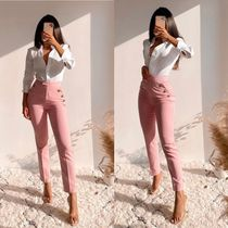 ZARA Casual Style Plain Cotton Long Party Style Office Style