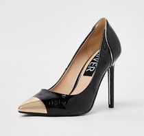 River Island Casual Style Faux Fur High Heel Pumps & Mules