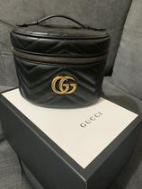 GUCCI GG Marmont Casual Style Vanity Bags 2WAY Plain Leather Party Style Logo