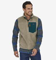 Patagonia Unisex Street Style Shearling Logo Outdoor Vests & Gillets