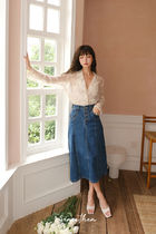 Since Then Pencil Skirts Casual Style Denim Plain Long Maxi Skirts