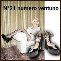 N21 numero ventuno Platform Casual Style Leather With Jewels Elegant Style