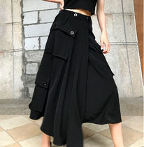 Pencil Skirts Flared Skirts Dots Casual Style Maxi