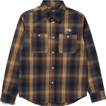 HUF Other Plaid Patterns Street Style Long Sleeves Cotton Logo