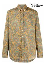 ETRO Paisley Long Sleeves Cotton Front Button Luxury Shirts