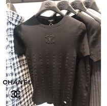 CHANEL 21A Tops Black/White/Red