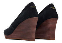 TOMS Open Toe Casual Style Suede Plain Formal Style  Logo