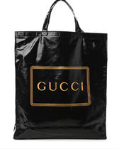 GUCCI Casual Style Canvas Blended Fabrics Street Style A4 Plain