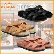 HERMES Chypre Casual Style Leather Elegant Style Sandals