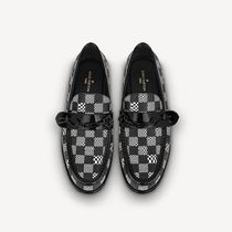 Louis Vuitton Other Plaid Patterns Loafers Leather Logo Loafers & Slip-ons