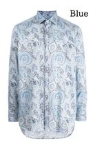 ETRO Front Button Luxury Flower Patterns Paisley Long Sleeves