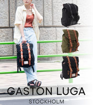 GASTON Casual Style A4 Plain Leather Party Style Office Style
