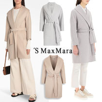 S Max Mara MESSI Casual Style Street Style Long Party Style Office Style