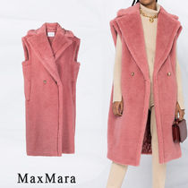 MaxMara Casual Style Street Style Long Party Style Fur Vests