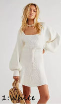 Free People Short Casual Style A-line Nylon Flared Long Sleeves Plain