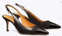 Tory Burch Plain Leather Pin Heels Party Style Office Style