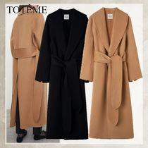 TOTEME Casual Style Unisex Wool Plain Long Party Style Office Style
