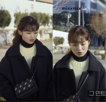 mixxmix Casual Style Wool Plain Long Party Style Office Style