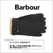 Barbour Blended Fabrics Street Style Plain Leather Eco Fur