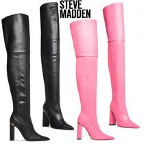Steve Madden Faux Fur Plain Pin Heels Over-the-Knee Boots