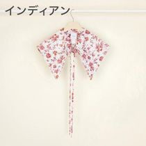 PATOU Flower Patterns Casual Style Cotton Collars