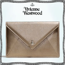 Vivienne Westwood Casual Style Unisex Street Style Plain Leather Party Style
