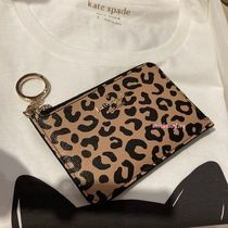 kate spade new york Leopard Patterns PVC Clothing Coin Cases