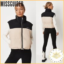 Missguided Casual Style Plain Logo Vest Jackets