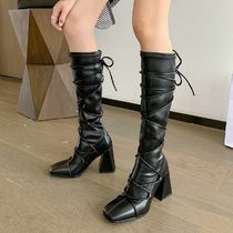 Cowboy Boots Platform Casual Style Street Style