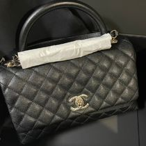 CHANEL MATELASSE Casual Style Leather Party Style Office Style Elegant Style