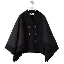 LOEWE Quilted peacoat in cotton