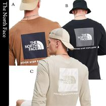 THE NORTH FACE Unisex Street Style Long Sleeves Plain Cotton