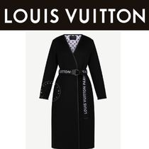 Louis Vuitton Monogram Casual Style Wool Blended Fabrics Street Style
