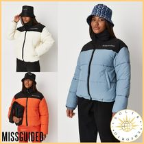 Missguided Street Style Plain Logo Down Jackets