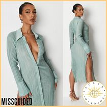 Missguided Short Casual Style Street Style Long Sleeves Plain Medium