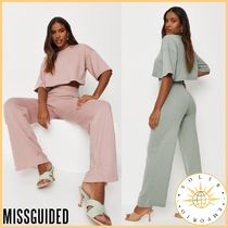 Missguided Casual Style Street Style Plain Short Sleeves Co-ord Dresses