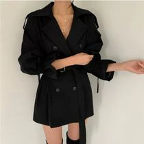 Casual Style Elegant Style Trench Coats