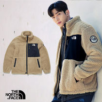 THE NORTH FACE PLAY GREEN Unisex Street Style Shearling Logo Jackets