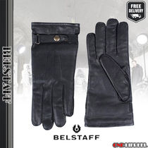 BELSTAFF Plain Leather Leather & Faux Leather Gloves
