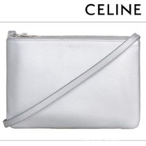 CELINE Trio Bag Casual Style Street Style Bag in Bag 3WAY Plain Leather