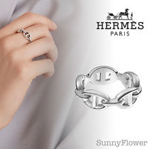 HERMES Chaine dAncre Casual Style Unisex Silver Elegant Style Rings