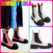 bimba & lola Rubber Sole Casual Style Suede Street Style Plain Leather