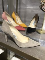 Jimmy Choo Plain Toe Casual Style Suede Plain Pin Heels Party Style
