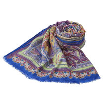 ETRO Paisley Casual Style Wool Silk Party Style Elegant Style
